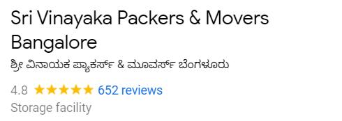 Sri Vinayaka Packers & Movers Bangalore
